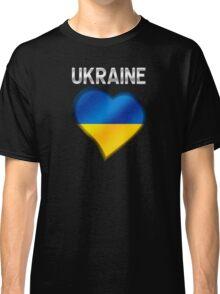 Ukraine - Ukrainian Flag Heart & Text - Metallic Classic T-Shirt