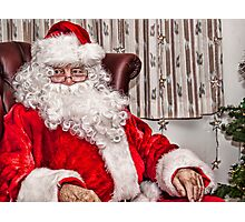 Santa Is In Town....Ho Ho Ho Photographic Print