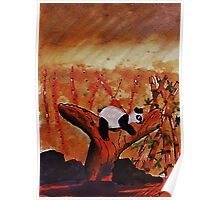Napping baby Panda, watercolor Poster