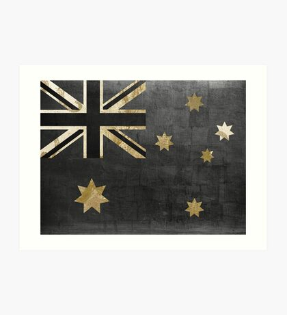 Australian Flag Fashion Glamour  Art Print