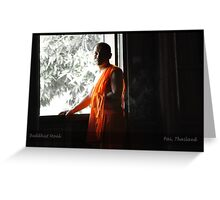 Buddhist Monk in Pai Greeting Card