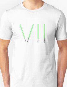 Star Wars The Force Awakens (Episode Seven) VII Green Lightsaber Unisex T-Shirt
