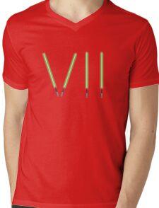 Star Wars The Force Awakens (Episode Seven) VII Green Lightsaber Mens V-Neck T-Shirt