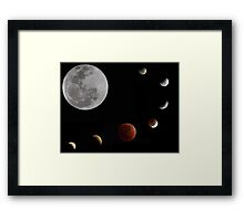 Phases of the moon _ Lunar eclipse 10.12.11 Framed Print