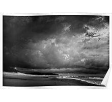 Currimundi Beach Clouds Poster