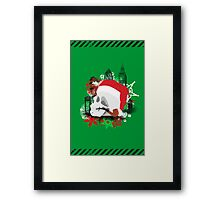 Skull Christmas - Green Framed Print