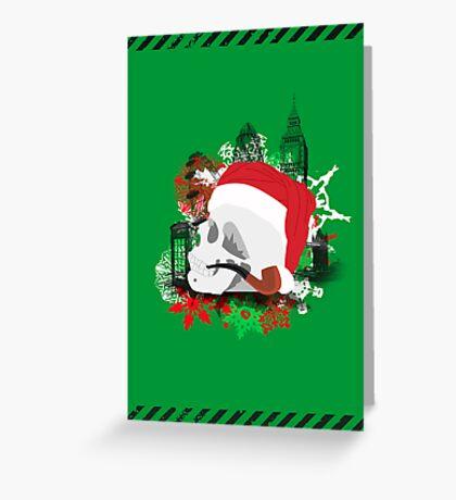 Skull Christmas - Green Greeting Card