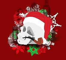Skull Christmas - Red by KitsuneDesigns