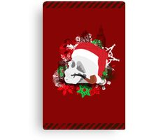 Skull Christmas - Red Canvas Print