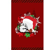 Skull Christmas - Red Photographic Print