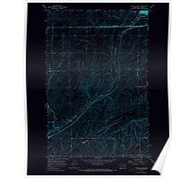 USGS Topo Map Washington State WA Ritzville SW 243468 1967 24000 Inverted Poster