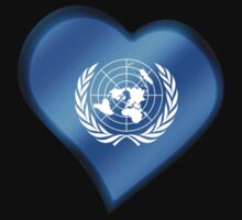 UN Flag - United Nations - Heart by graphix