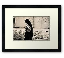 Walking Down The Village Lane Framed Print