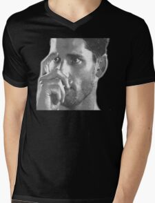 This is my safety,Sir (BW) Mens V-Neck T-Shirt