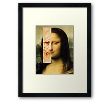 Mona Lisa Next to Da vinci Framed Print