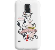 crazy cow Samsung Galaxy Case/Skin