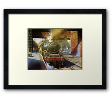 Jubilee 4-6-0 at Liverpool, Lime Street Framed Print