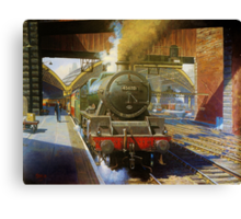 Jubilee 4-6-0 at Liverpool, Lime Street Canvas Print