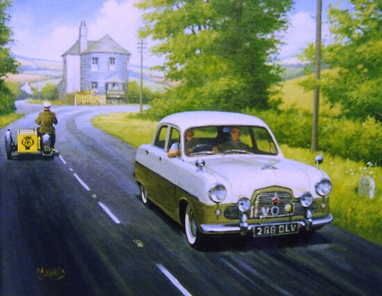 Ford Zephyr near Marldon Road tollhouse. by Mike Jeffries