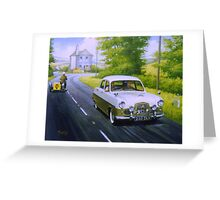 Ford Zephyr near Marldon Road tollhouse. Greeting Card