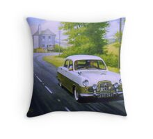 Ford Zephyr near Marldon Road tollhouse. Throw Pillow