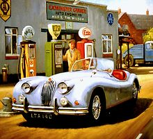 Jaguar XK140 by Mike Jeffries