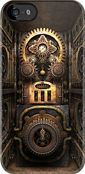 Infernal Steampunk Machine #4 iPhone case by Steve Crompton