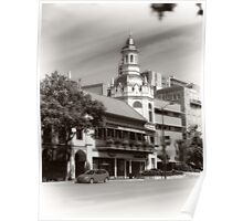 Figlio's on the Country Club Plaza, Kansas City, Tilt-Shift, Sepia Poster