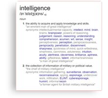 What intelligence means ? Canvas Print