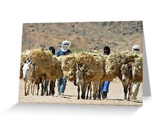 Saharan Nomads Greeting Card