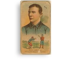 Benjamin K Edwards Collection Dell Darling Chicago White Stockings baseball card portrait Canvas Print