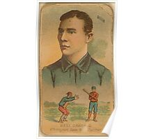 Benjamin K Edwards Collection Dell Darling Chicago White Stockings baseball card portrait Poster