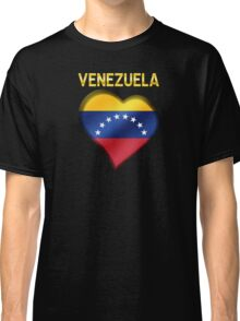 Venezuela - Venezuelan Flag Heart & Text - Metallic Classic T-Shirt