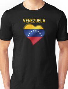 Venezuela - Venezuelan Flag Heart & Text - Metallic Unisex T-Shirt