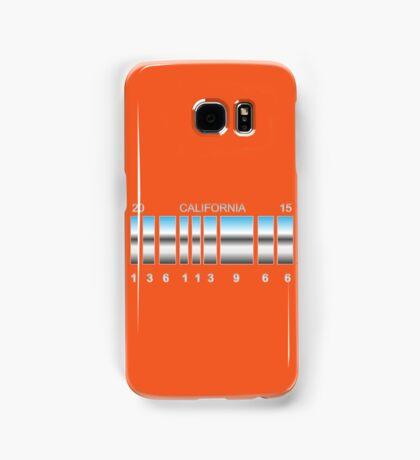 Back to the future Delorean's back plates. Samsung Galaxy Case/Skin