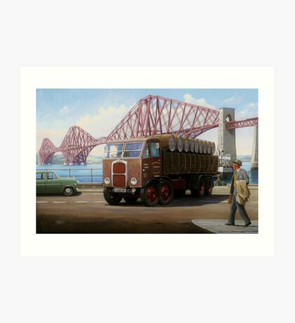 Scammell 8 at the Forth Bridge Art Print