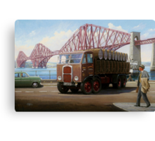 Scammell 8 at the Forth Bridge Canvas Print