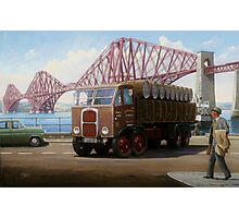 Scammell 8 at the Forth Bridge Photographic Print