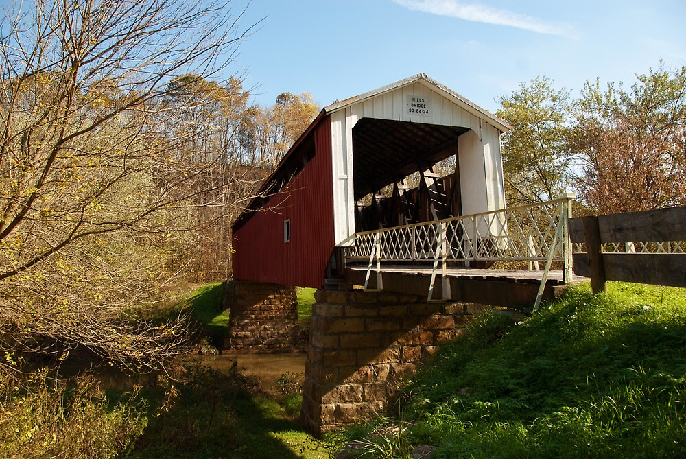 The Hills Covered Bridge by Jeanne Sheridan
