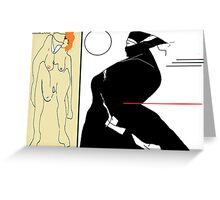 homage to egon schiele Greeting Card
