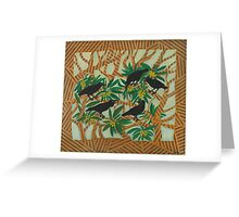 Wardang (crow) in the Loquat Tree Greeting Card
