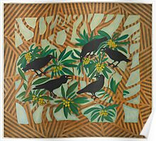 Wardang (crow) in the Loquat Tree Poster