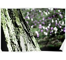 Abstract Tree & Flowers Poster