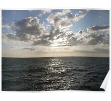 Sun through clouds Poster