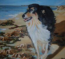 Jasper  gazing out to sea by Belinda Galsworthy
