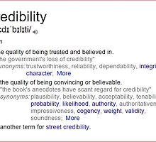 What is meaning of credibility ? by santoshputhran