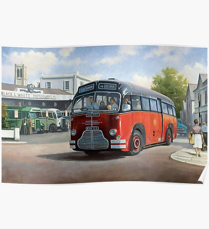 Midland Red C1 coach. Poster