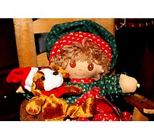 Christmas Dolly Photographic Print