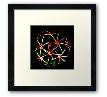 Fractal And Spherical Symmetry Framed Print
