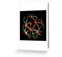 Fractal And Spherical Symmetry Greeting Card